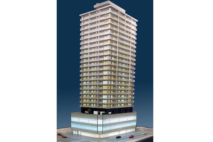 静岡のタワーマンションの外観模型