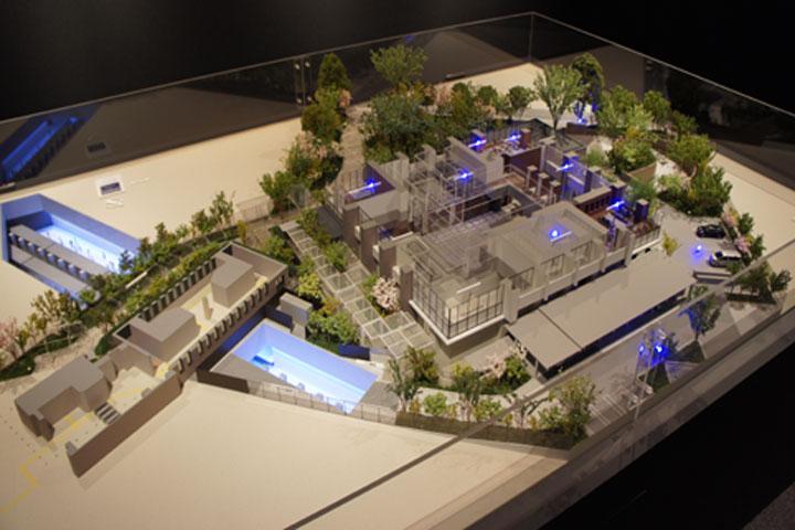 地下鉄とマンションエントランスの動線を理解できる模型