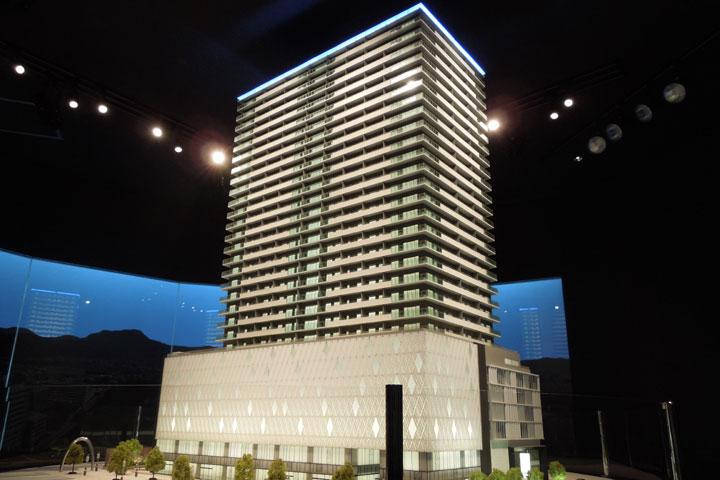 静岡のタワーマンションの建築模型