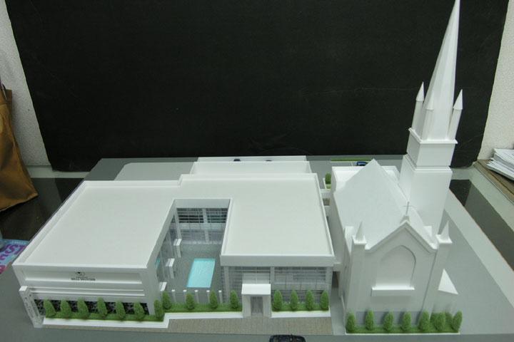 山形の結婚式場の建築模型