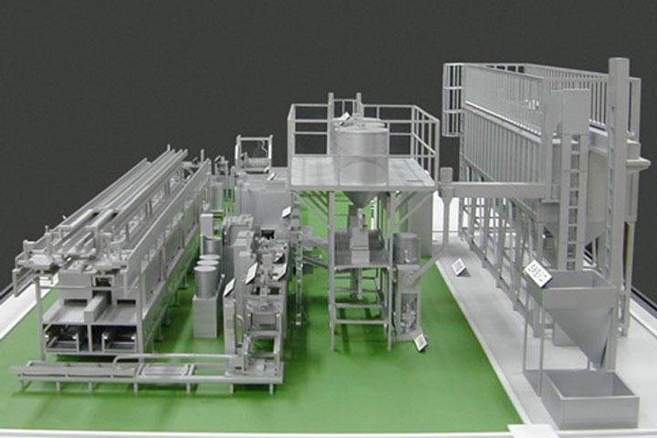 炊飯システムの機械模型