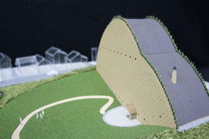 多治見市モザイクタイルミュージアムの竣工建築模型