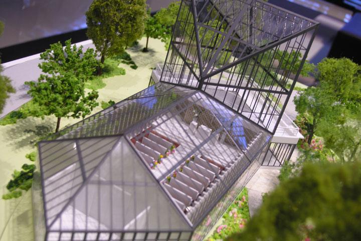 天童の結婚式場の建築模型