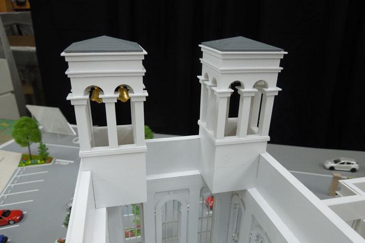 津の結婚式場ゲストハウスの建築模型
