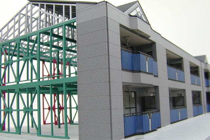 東建コーポレーションのマンションの構造模型