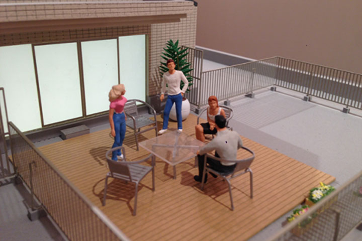 瑞穂区の低層マンション模型