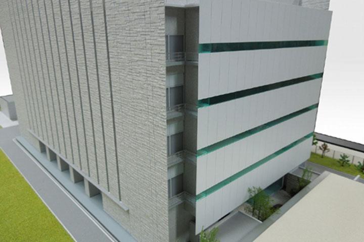 データセンターの外観模型