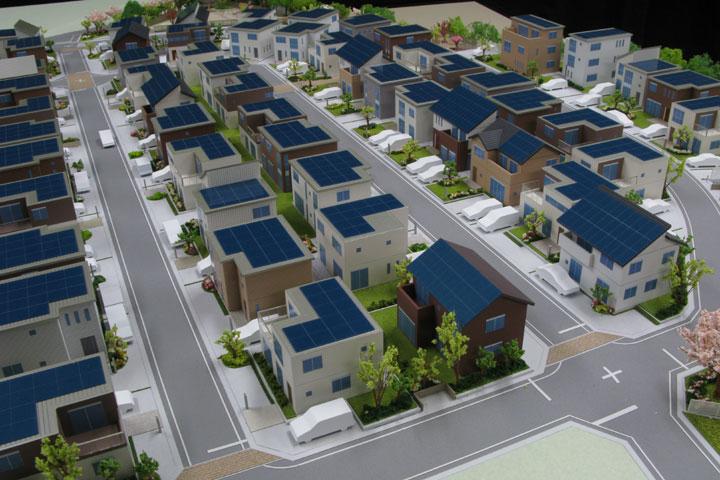 加木屋町の建売住宅の模型