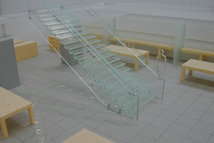 アップルストアの店舗の建築模型