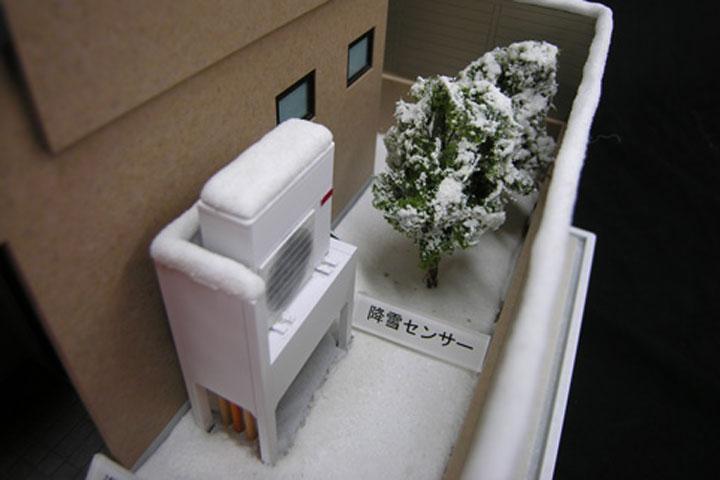 融雪システムの機械模型