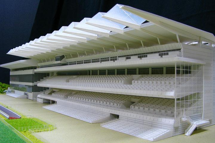 競馬場の建築模型