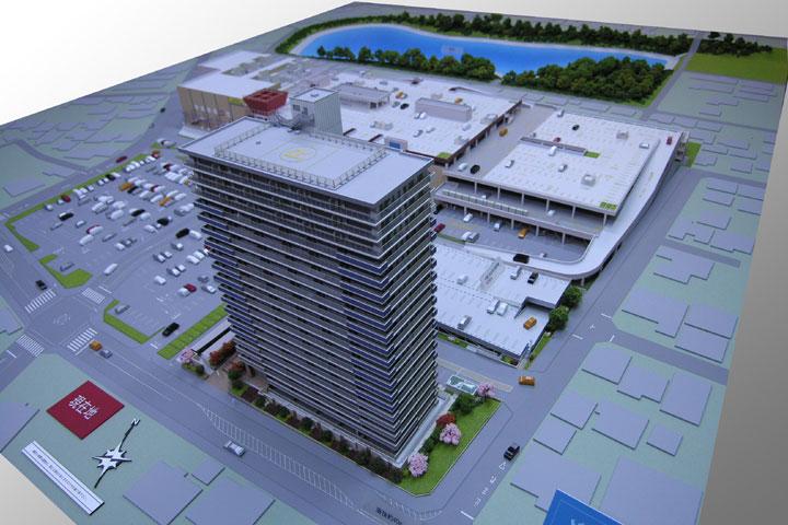 岡崎のショッピング施設の建築模型