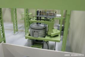 製鋼工場のラインを再現した動く模型