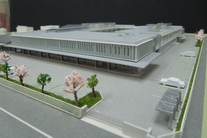 建築模型のファサード