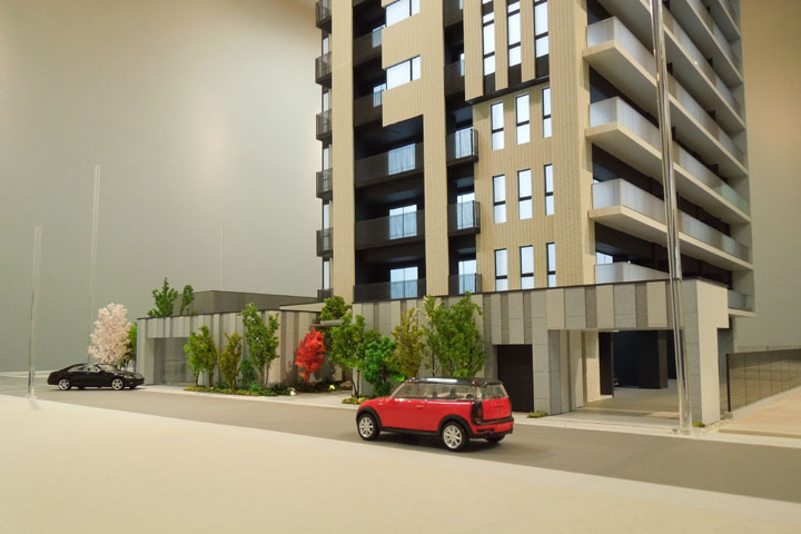 マンションの建築模型