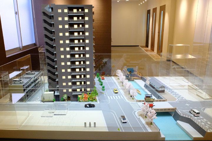 ザ・パークハウス大垣マンションの模型