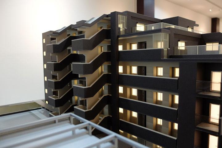 階段の建築模型