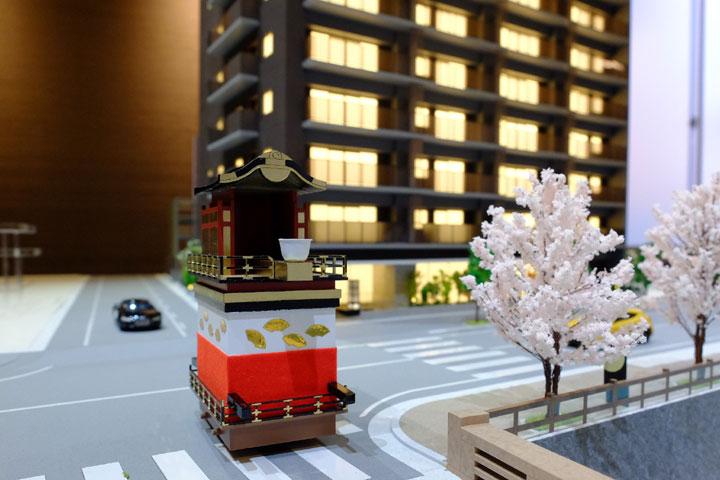 お祭りの山車の模型