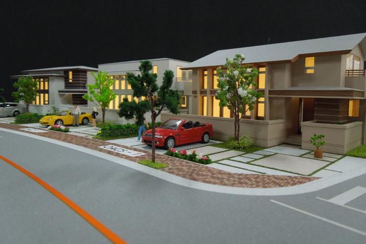 住宅の量産模型