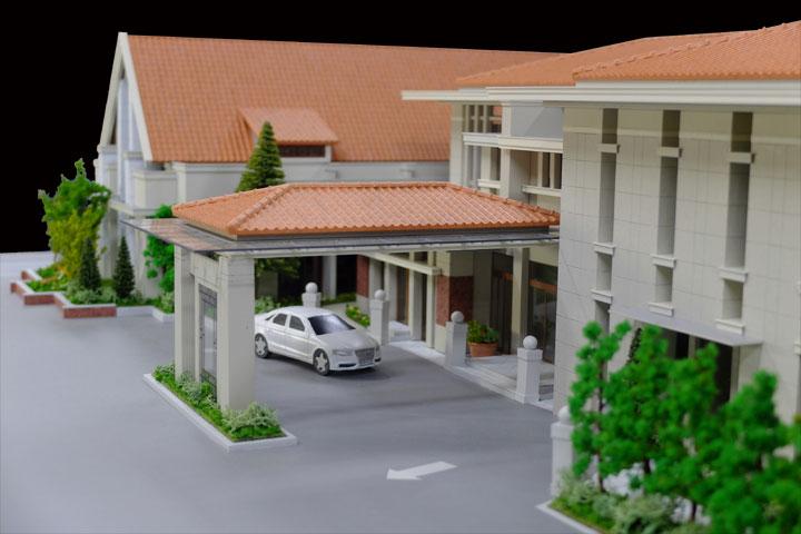 結婚式場の模型