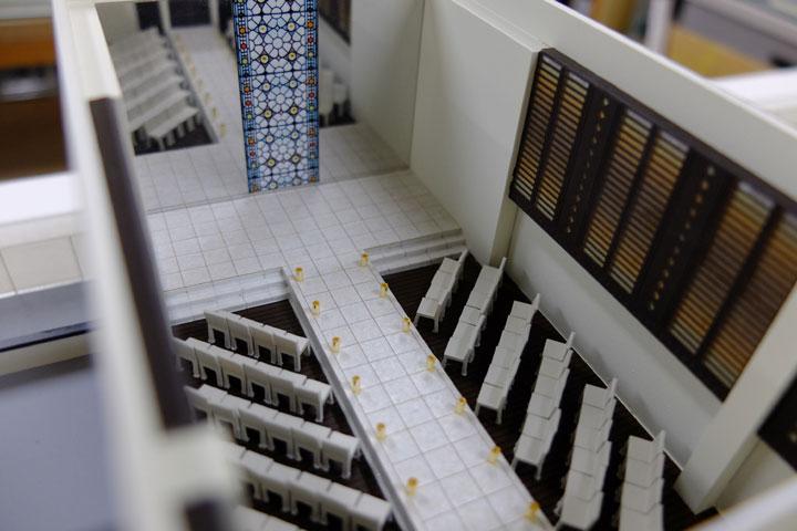 ベルヴィ ロヴィナテラスの結婚式場の模型