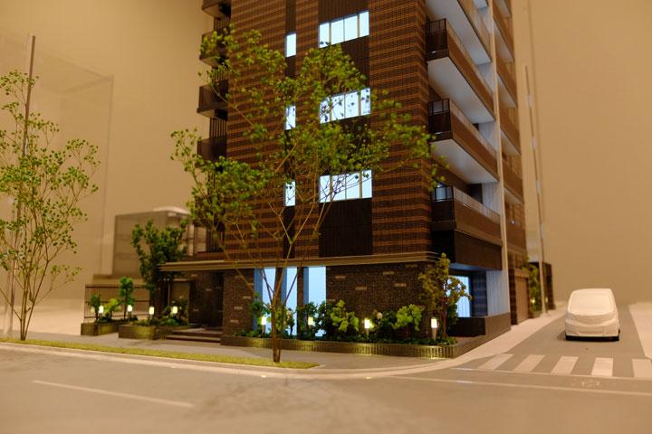 名古屋市昭和区桜山町のマンション外観模型