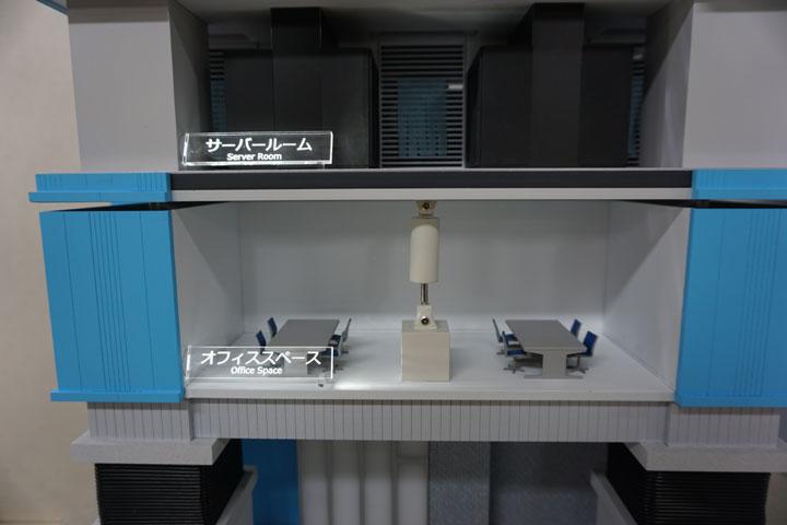 空調機能付きの免震比較模型