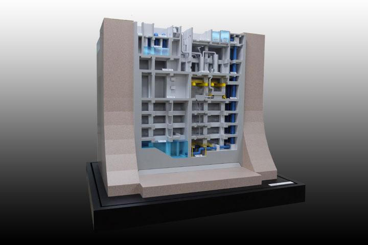 広川ポンプ所の展示模型