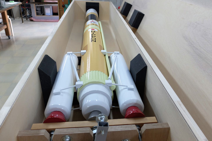 H2Aロケットの大型模型