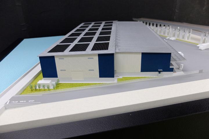 倉庫の建築模型