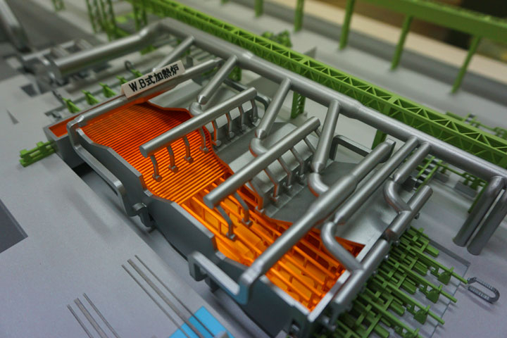 愛知製鋼第2棒鋼工場の模型