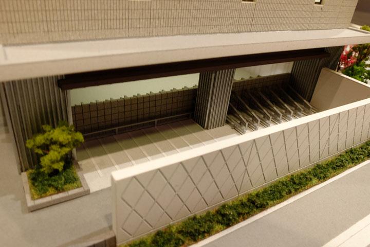 ポレスター三輪セントラルレジデンスのマンションの建築模型