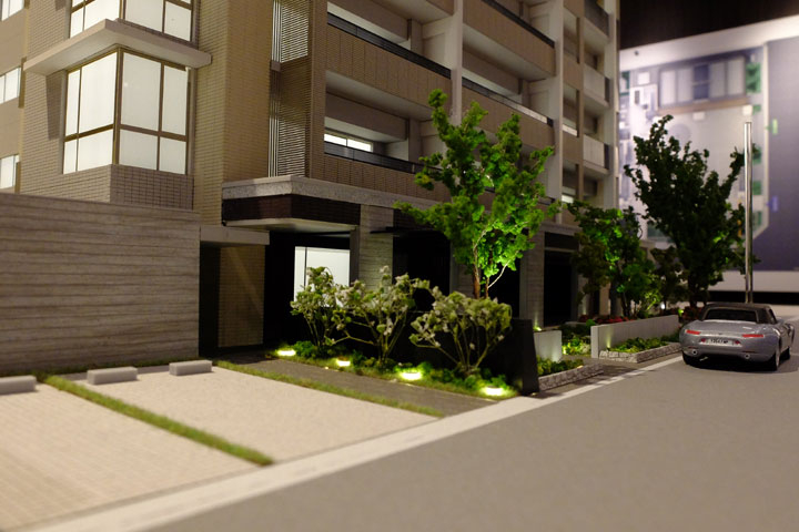 グラディス幟町レジデンスのマンションの建築模型