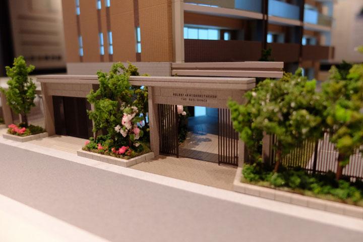 ポレスター東高須のマンション建築模型