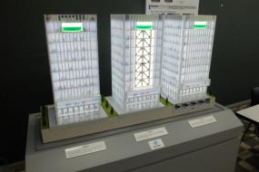 ビル型3棟比較の模型