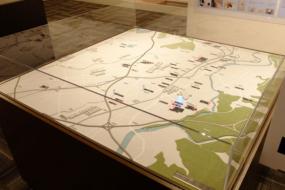 豊田市の市街地のジオラマ模型