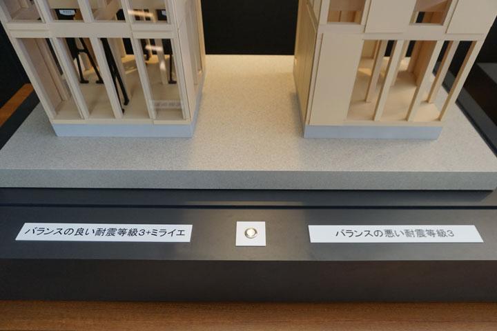 制震ユニット採用の電動比較模型