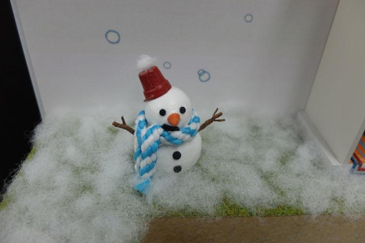 雪だるまの模型