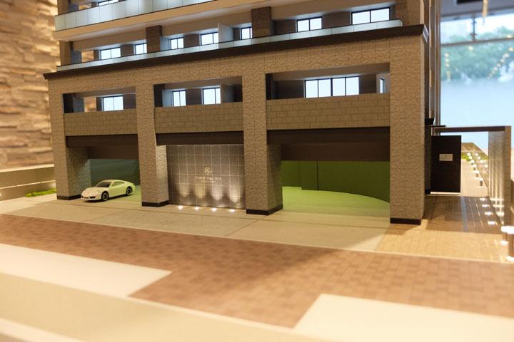 名古屋栄のタワーマンションの建築模型