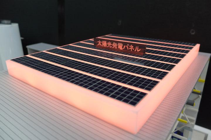 トヨタ自動車九州の工場のラインを再現した展示模型