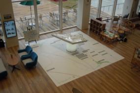 四郷駅前複合開発プロジェクトのジオラマ模型