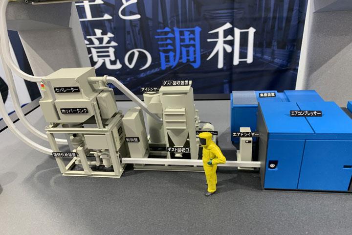 橋梁の補修工事の機械展示模型
