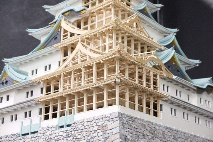 名古屋城天守閣を木造で復元した模型