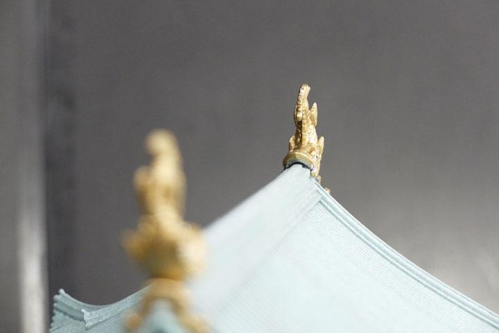 名古屋城天守閣のしゃちほこの模型