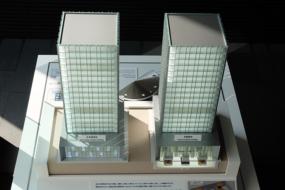 奥村組の記念館の地震模型