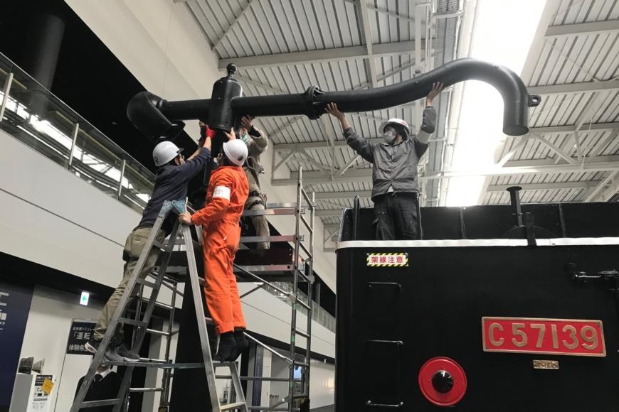 リニア鉄道館に展示されている給水塔のレプリカ