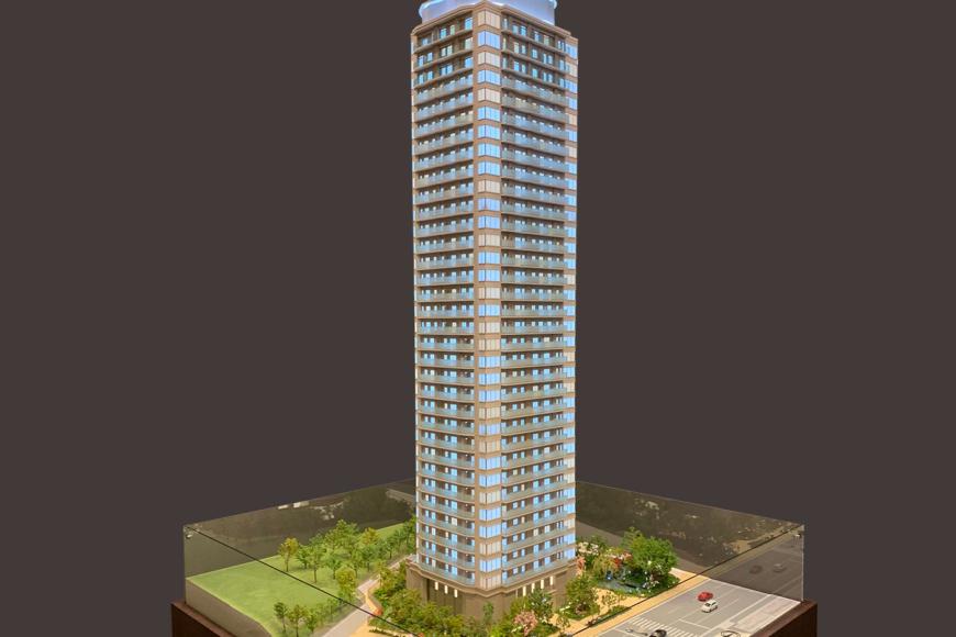 タワーマンションの建築模型