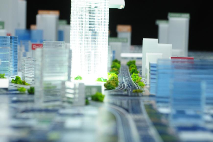 名古屋駅周辺のジオラマ模型