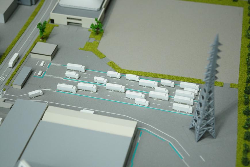 工業用テープやフィルムの製造工場の模型