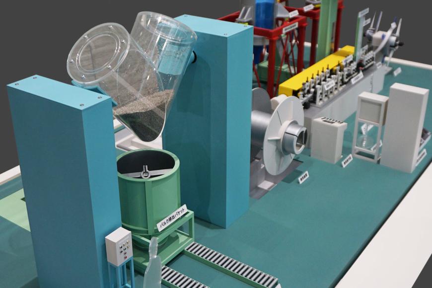 混合機の機械模型